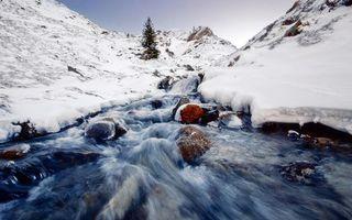 Фото бесплатно небо, горы, зима