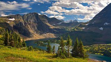 Photo free landscape, river, mountains