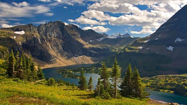 Фото бесплатно пейзаж, река, горы