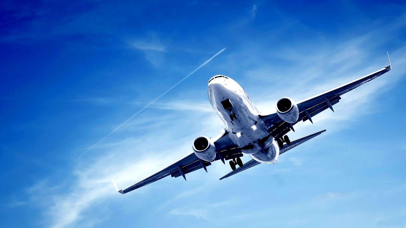 Фото бесплатно боинг, самолет, пассажирский, крылья, посадка, небо, авиация, авиация