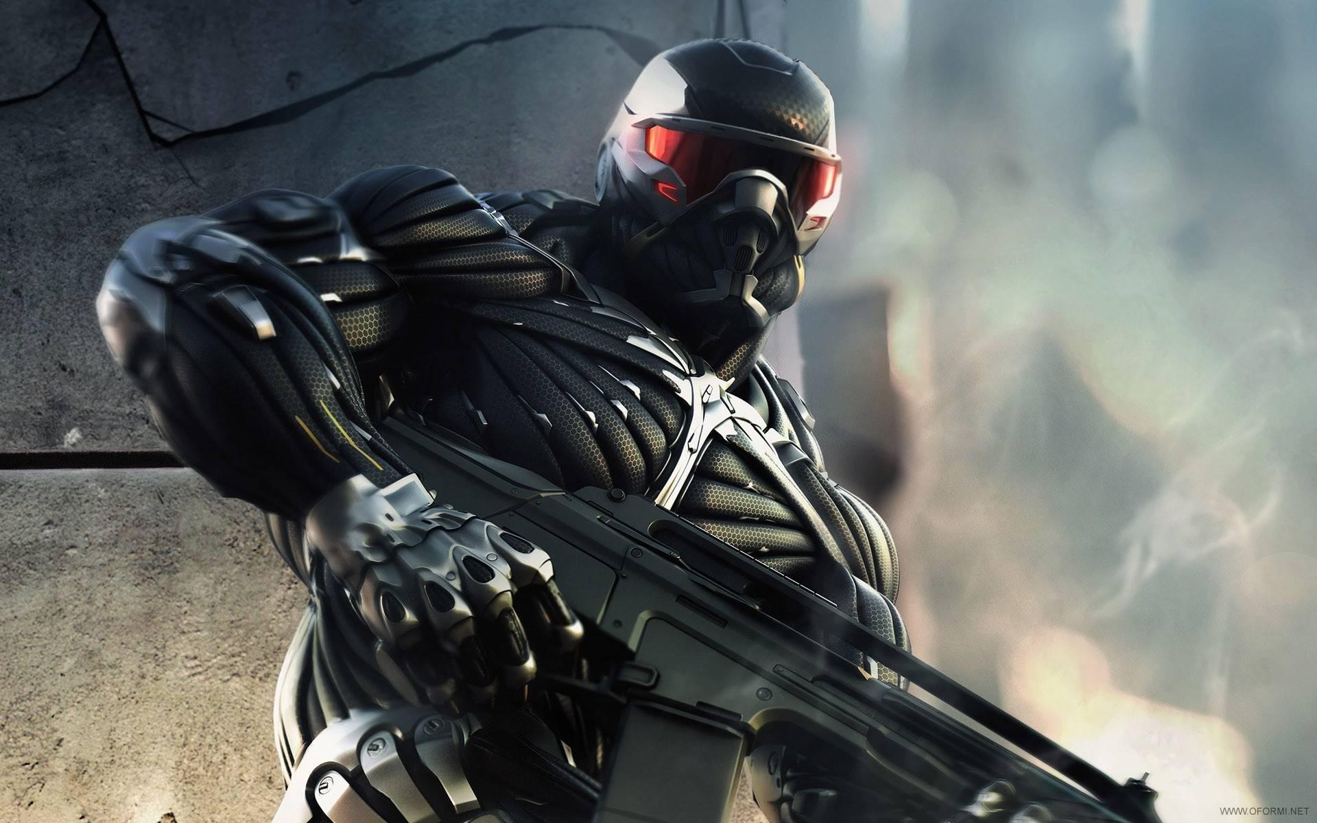 обои Crysis, Crysis Wars, nomad, автомат картинки фото
