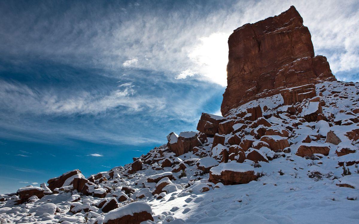 Фото бесплатно небо, горы, камни - на рабочий стол