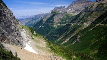 Бесплатные фото горы, камни, трава, зелень, небо, облака, природа