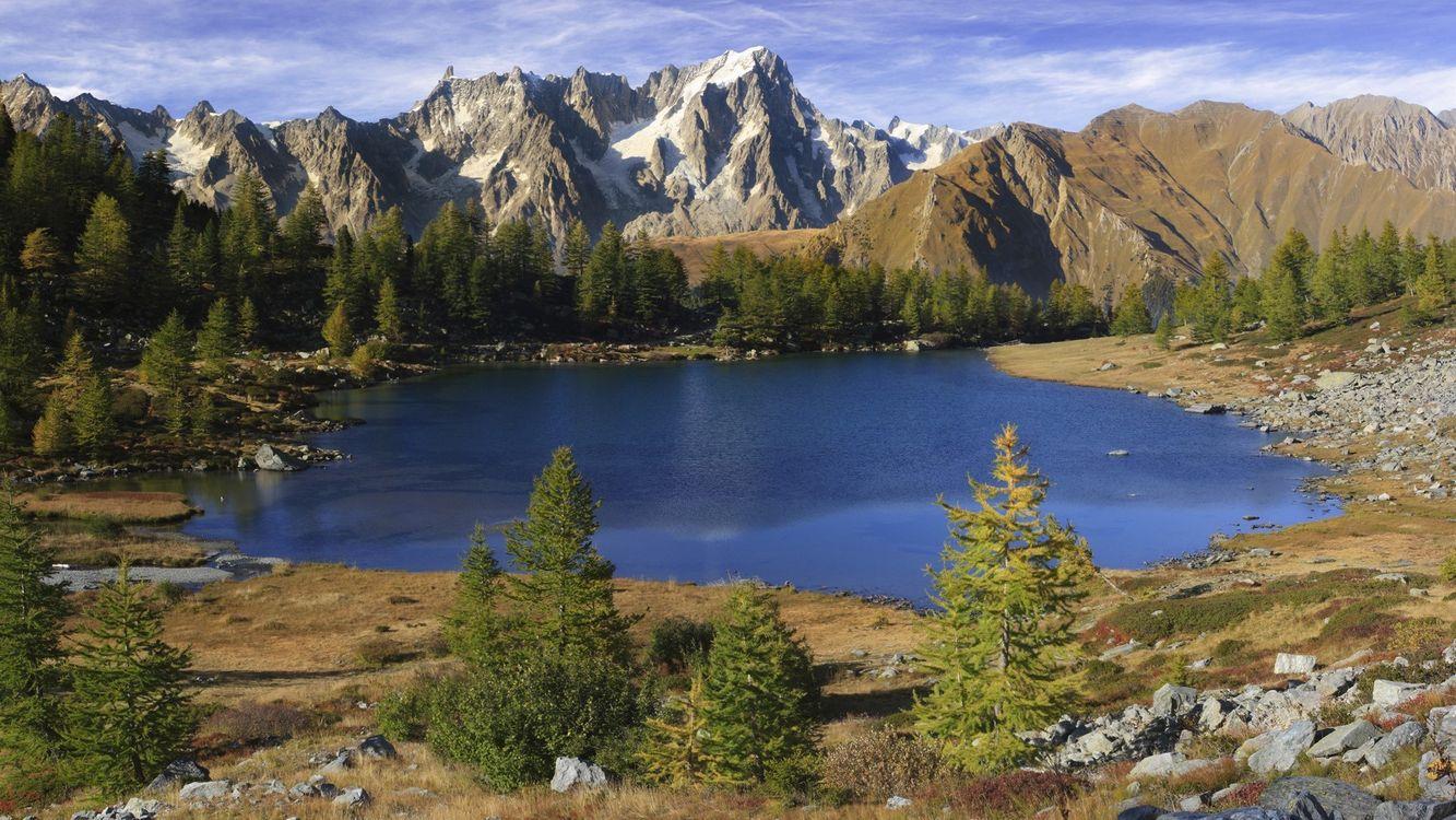 Фото бесплатно горы, небо, облака, воздух, горизонт, вид, камни, скалы, пейзажи, пейзажи