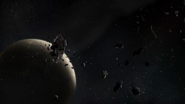Photo free asteroids, planet, satellite