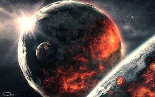 Фото бесплатно солнце, космос, спутники