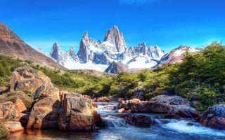Photo free nature, mountains, river