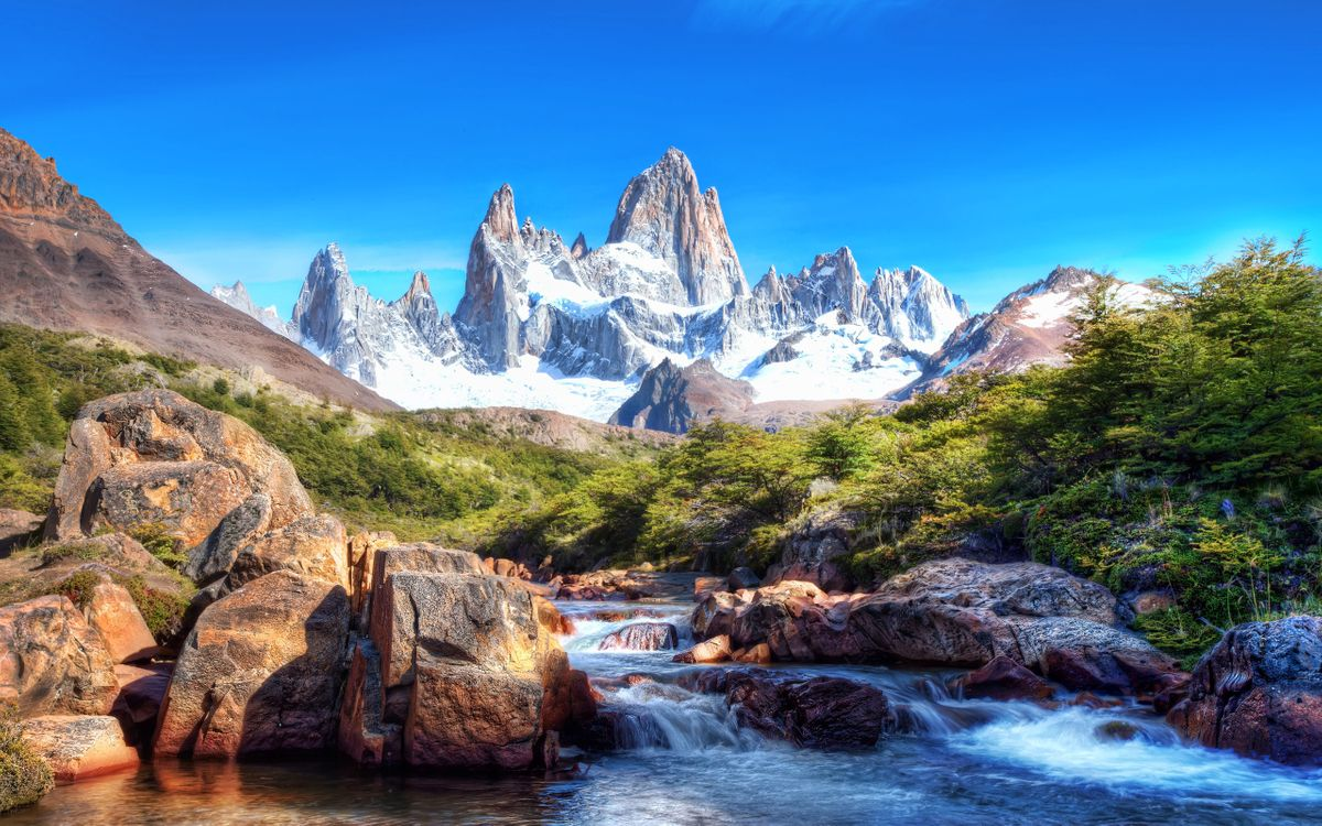 Free photo nature, mountains, river, landscapes - to desktop