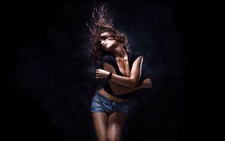 Фото бесплатно танец, шорты, волосы