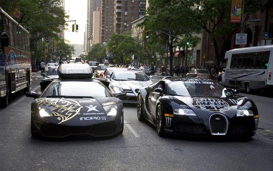 Photo free street, road, sports cars