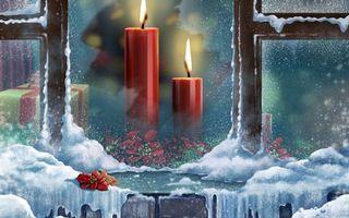 Фото бесплатно зима, окно, мороз