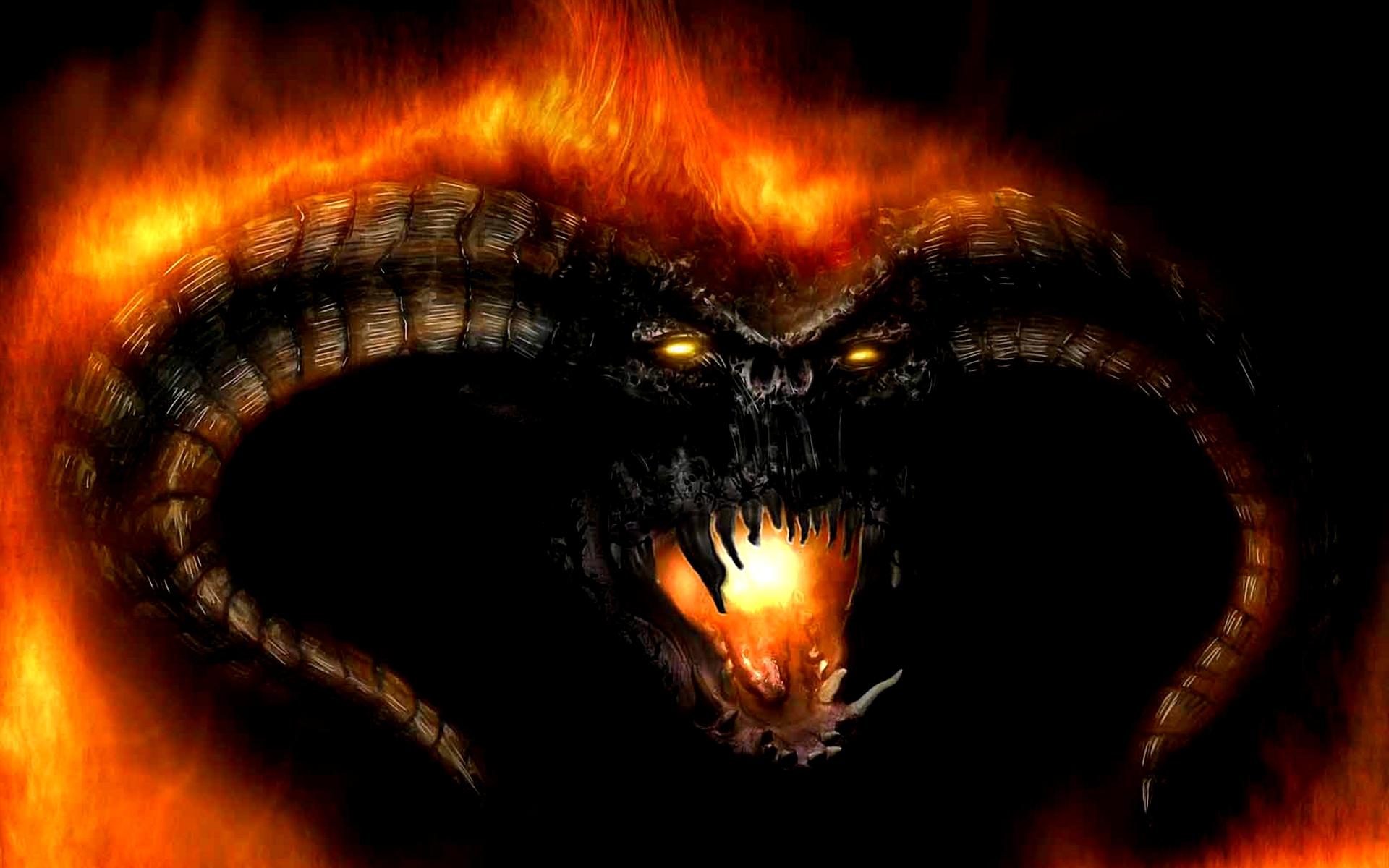 Обои змея, кобра, глаза, огонь