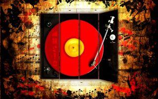 Фото бесплатно пластинка, ноты, музыка