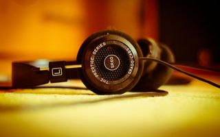 Photo free headphones, table, music