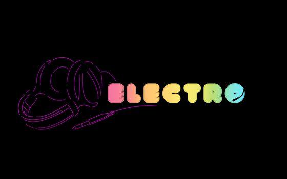 Заставки electro, надпись, наушники