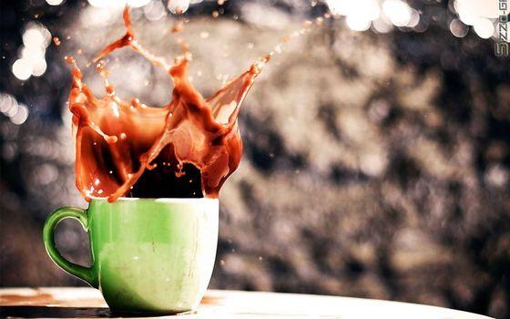 Заставки чашка, кофе, брызги