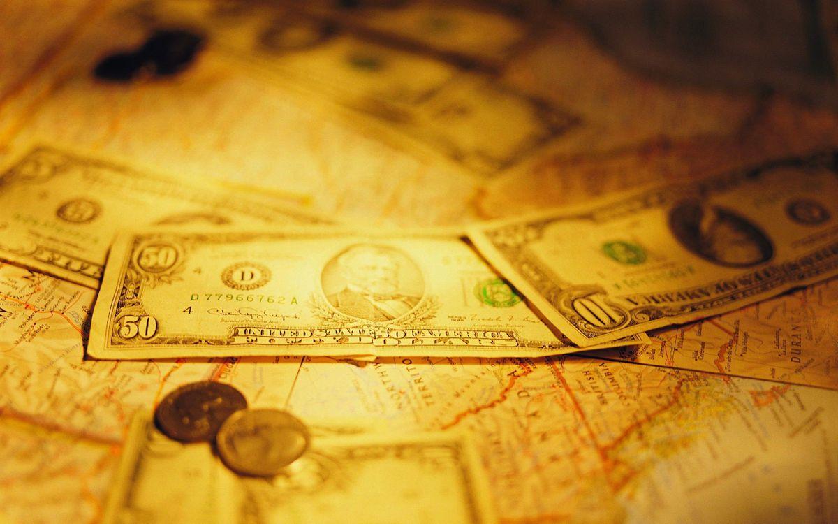 Фото бесплатно деньги, доллары, центы, карта, мир, сокровище, разное, разное