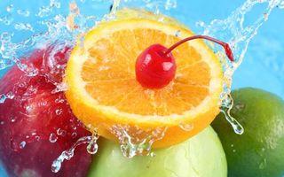 Бесплатные фото фрукты,вишня,ягода,апельсин,долька,лайм,яблоко