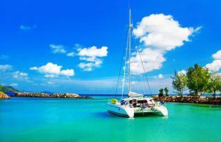 Фото бесплатно пейзажи, яхта, море