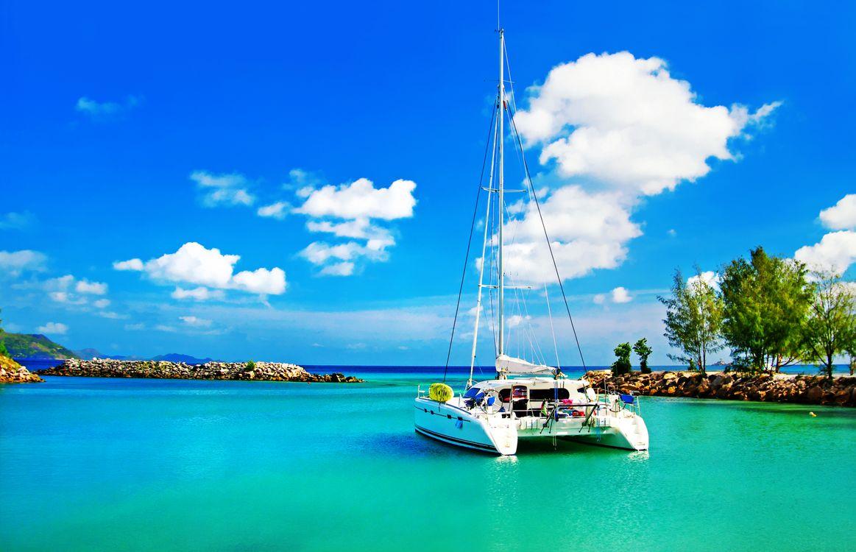 Фото бесплатно пейзажи, яхта, море - на рабочий стол