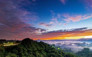 Бесплатные фото пейзаж, закат, лес, пейзажи