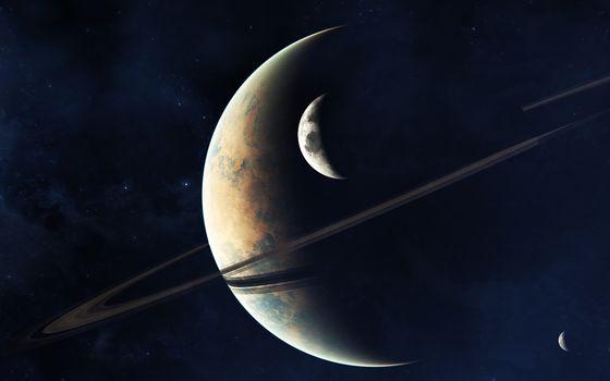 Заставки планета, кольца, звезды
