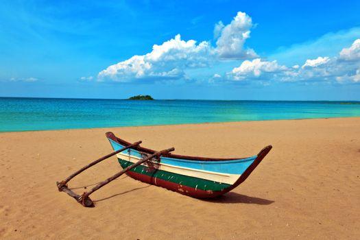 Бесплатные фото тропики,море,пляж,каноэ,пейзажи