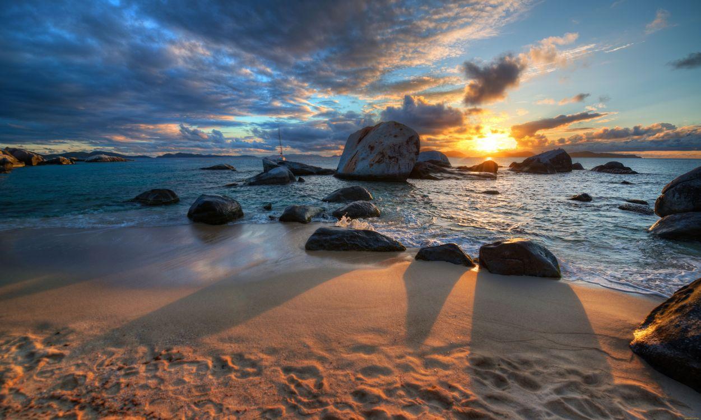 Фото бесплатно закат, солнца, берег - на рабочий стол