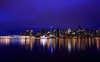 Бесплатные фото здания,вода,бетон,ночь,огни,подсветка,город