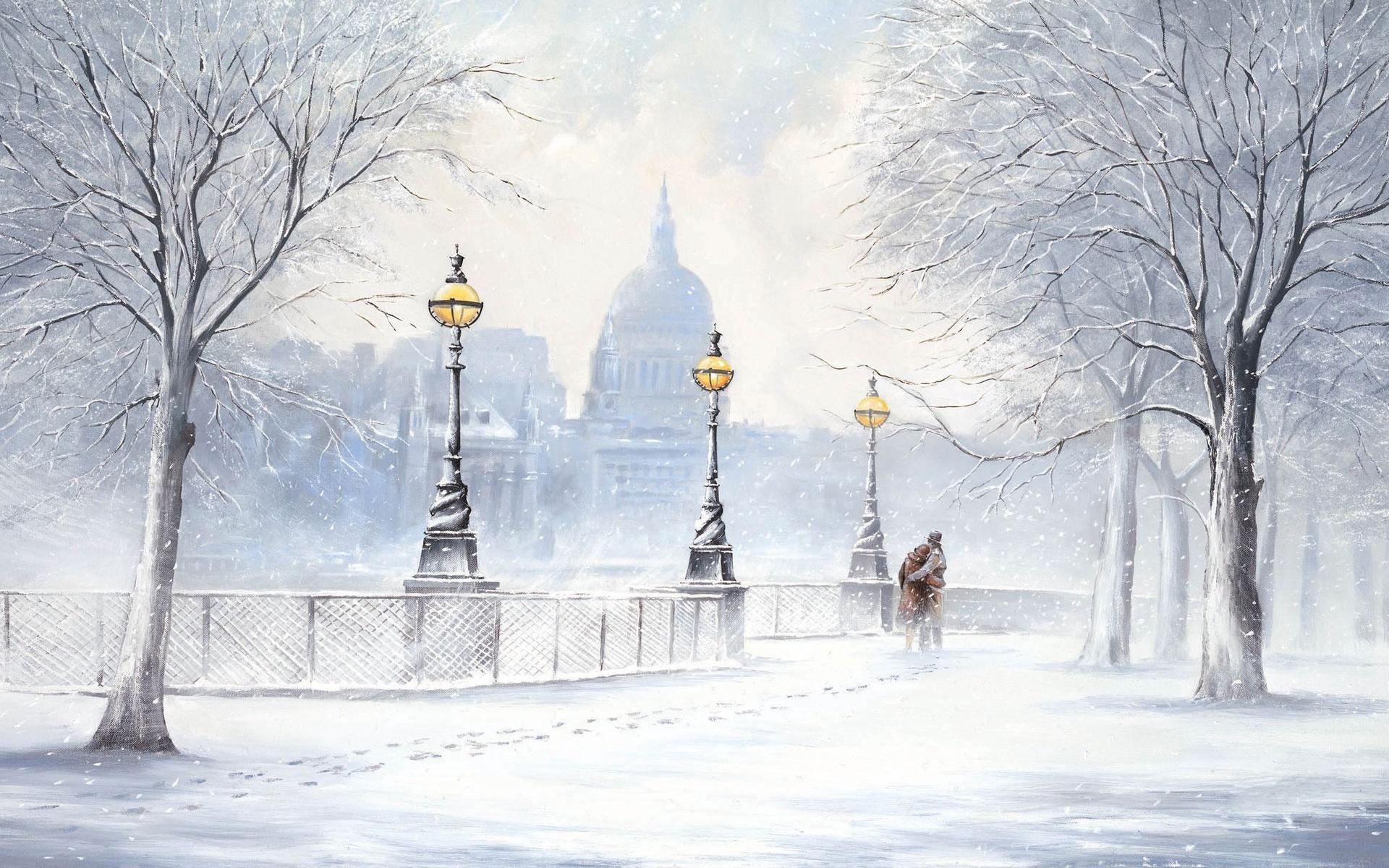 зима, снегопад, вьюга