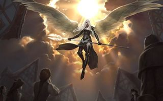 Фото бесплатно аниме, люди, крылья