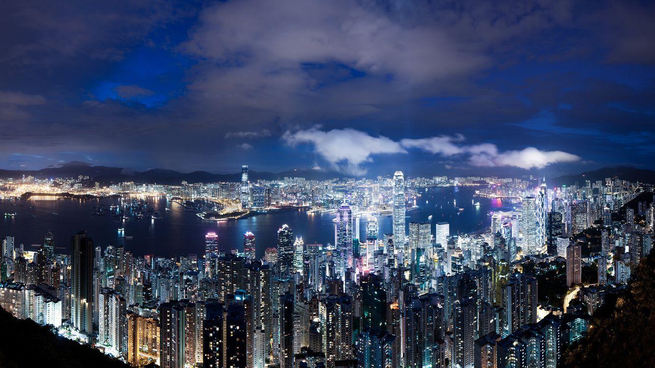 Фото бесплатно небо, небоскребы, озера - на рабочий стол