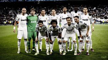 Фото бесплатно футбол, команда, реал