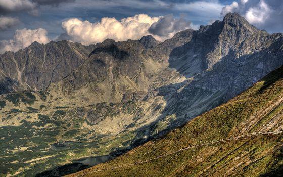 Фото бесплатно горы, хребет, низина