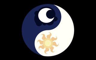Бесплатные фото инь-янь,знак,символ,луна,месяц,солнце,фон