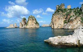 Бесплатные фото камни,скалы,небо,облака,море,океан,волны