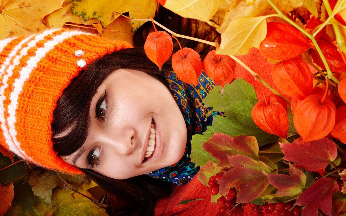 Фото бесплатно красивая, улыбка, оранжевый - на рабочий стол