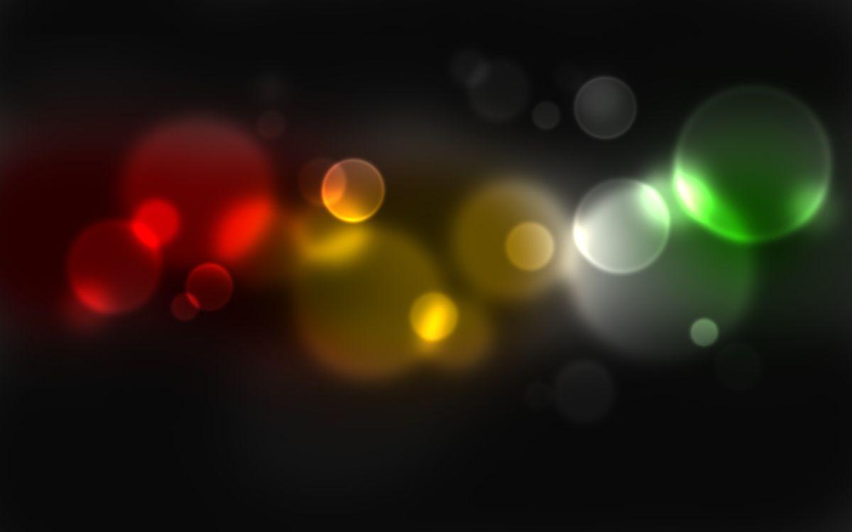 Фото бесплатно круги, свет, желтый, зеленый, красный, фон, черный, обои, заставка, абстракции, разное, разное