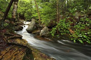 Фото бесплатно поток, скалы, река