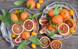Photo free lemon, orange, table