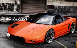 Бесплатные фото мазда rx7,оранжевая,легкий,тюнинг,большие,диски,парковка