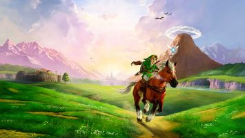 Бесплатные фото мультик,поле,дорога,трава,птицы,мальчик,конь