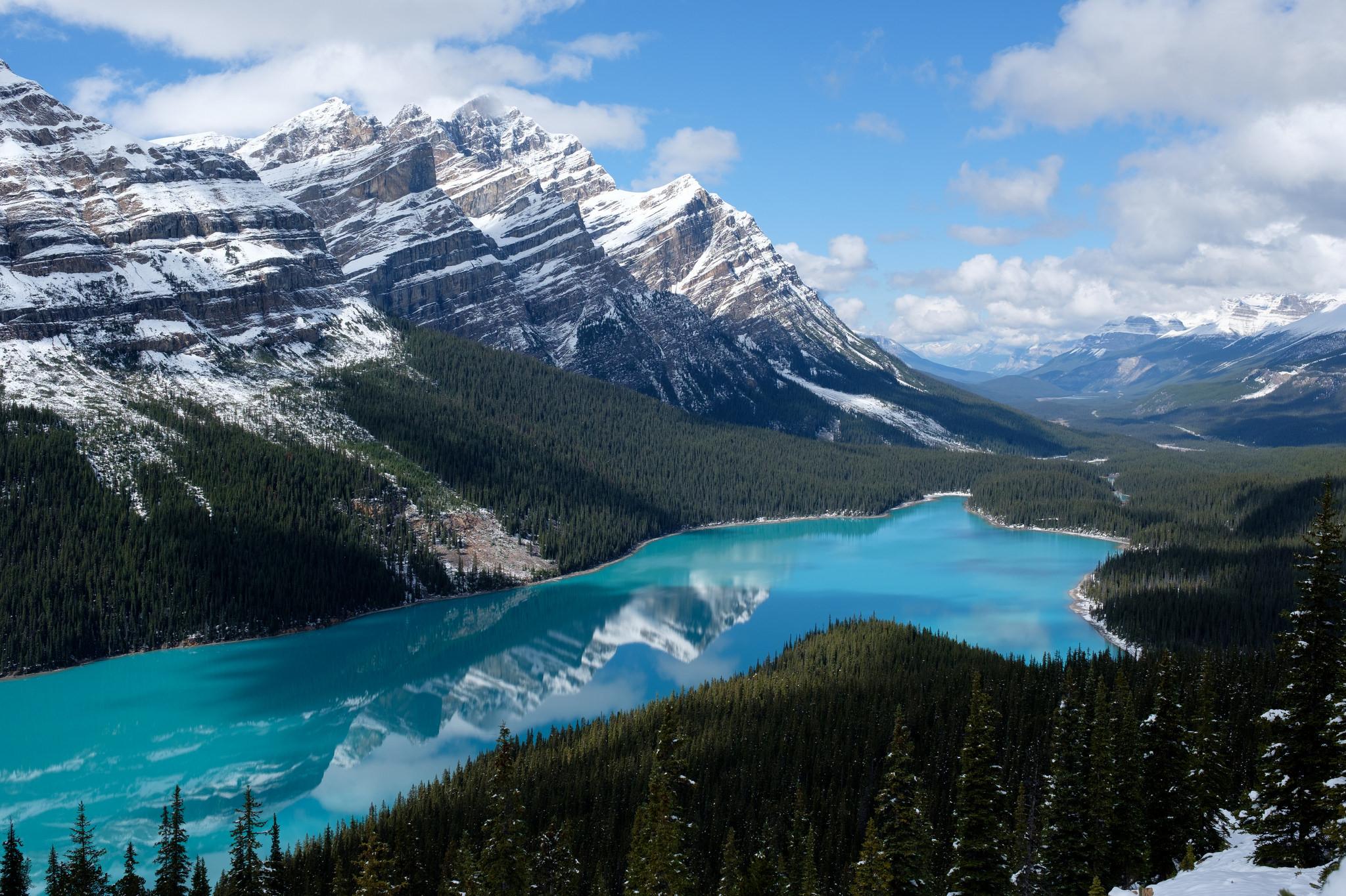 обои Peyto Lake, Canada, горы, озеро картинки фото