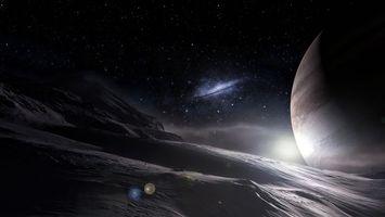 Бесплатные фото планета,поверхность,песок,горы,дюны,свет,лучи
