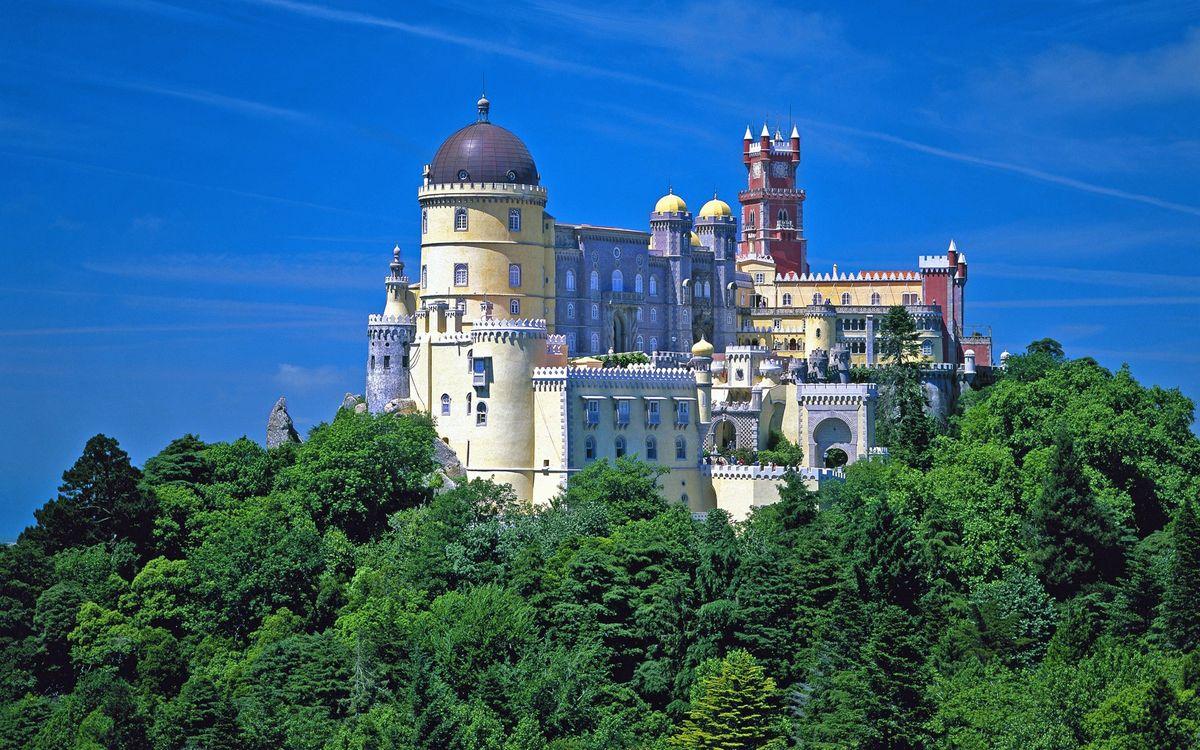 Фото бесплатно португалия, дворец, нехило, пейзажи, пейзажи
