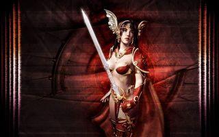 Фото бесплатно project a3, девушка с мечом, фэнтези