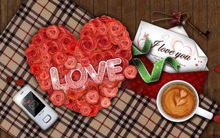 Бесплатные фото розы, надпись, телефон, любовь, настроения