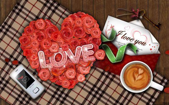Бесплатные фото розы,надпись,телефон,любовь,настроения