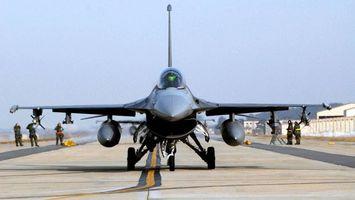 Фото бесплатно самолет, военный серый, колеса
