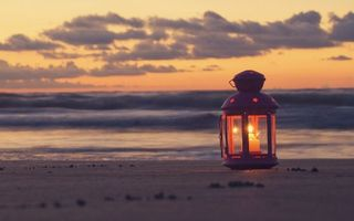 Photo free lamp, candle, beach